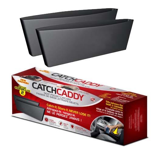 ที่เก็บของในรถข้างเบาะ catch caddy สีดำ