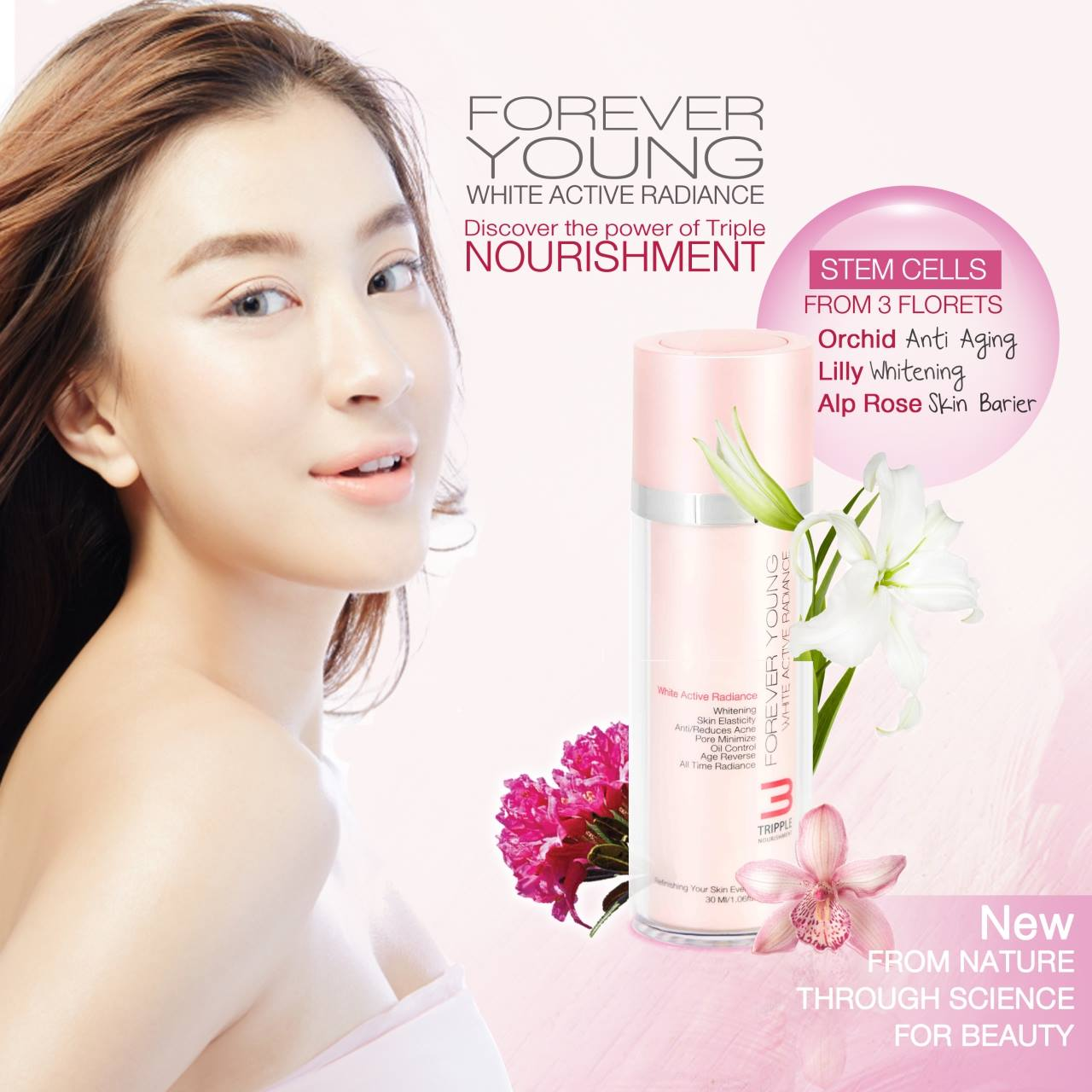 Forever young Triple Stem Cells White Active Radiance สเต็มเซลล์รวมกันถึง 3