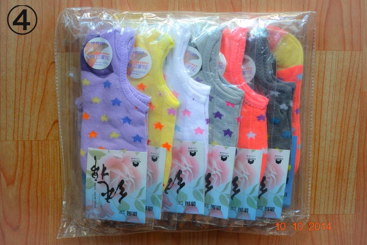 S304-4**พร้อมส่ง**(ปลีก+ส่ง) ถุงเท้าข้อสั้น ใต้ตาตุ่ม มี 5 ลาย คละสี เนื้อดี งานนำเข้า(Made in China)
