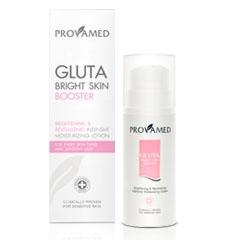 Provamed Gluta Bright Skin Booster 200 ml. นวัตกรรมใหม่ล่าสุด กลูต้า ไบร์ท สกิน บูสเตอร์ กลูต้าไธโอนสำหรับทาผิวในรูปแบบใหม่เพื่อผิวขาวกระจ่างใส เปล่งประกายทั่วเรือนร่าง