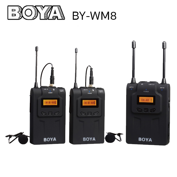 Microphone BOYA BY-WM8 UHF Dual-Channel wireless microphone system