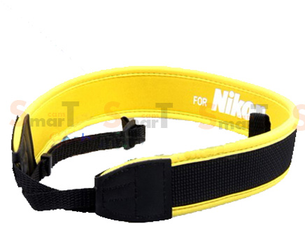 สายคล้องกล้อง Nikon White on Yellow Neck Strap Neoprene